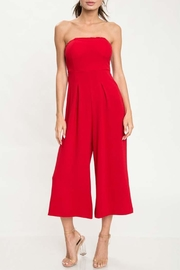 L'atiste Red Tube Jumpsuit - Front cropped