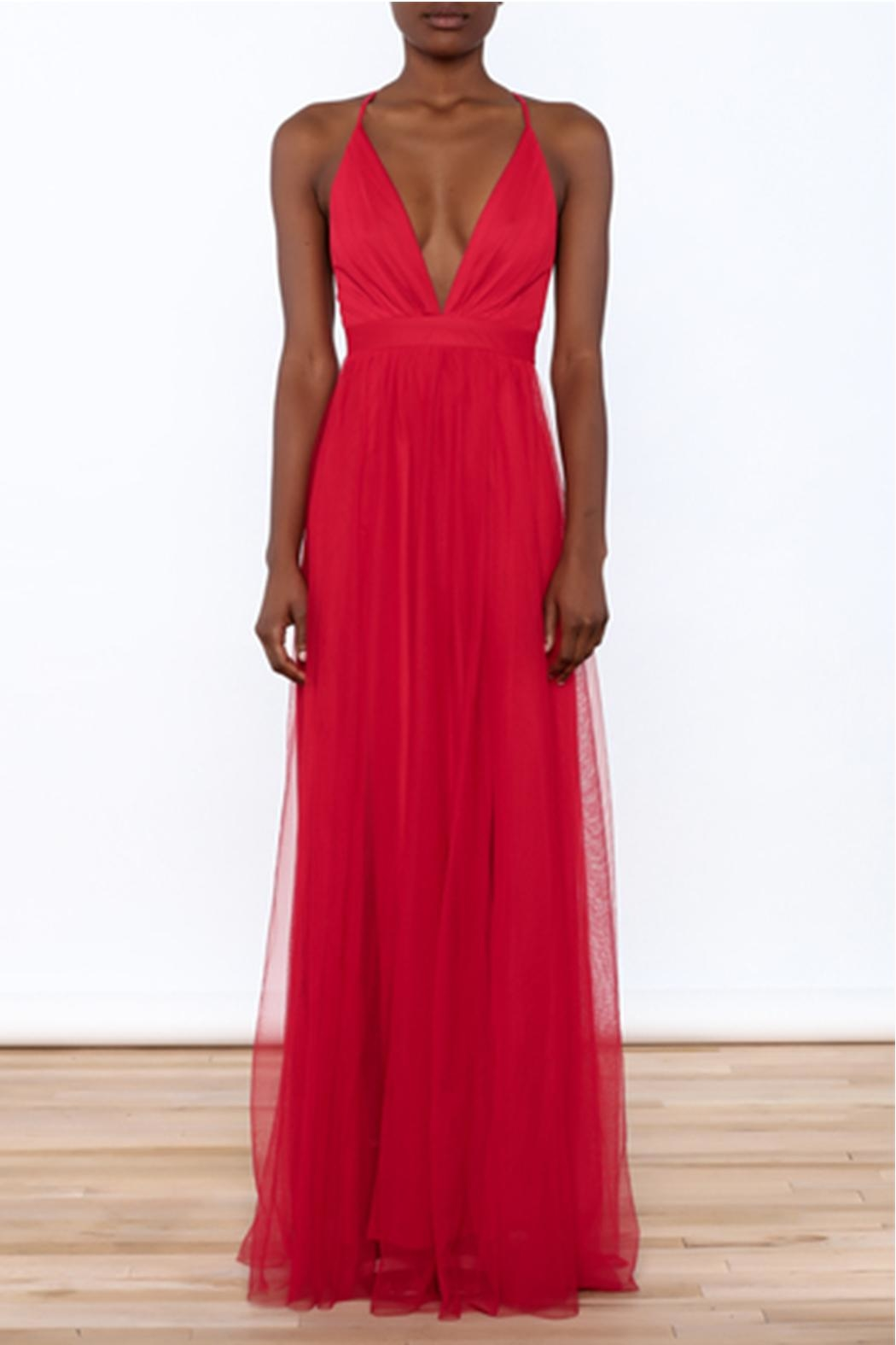 luxxel Red Tulle Maxi from New York by Dor L\'Dor — Shoptiques