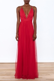 luxxel Red Tulle Maxi - Front cropped