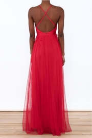 luxxel Red Tulle Maxi - Front full body