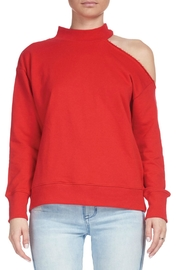 Elan Red Turtle-Neck Top - Product Mini Image