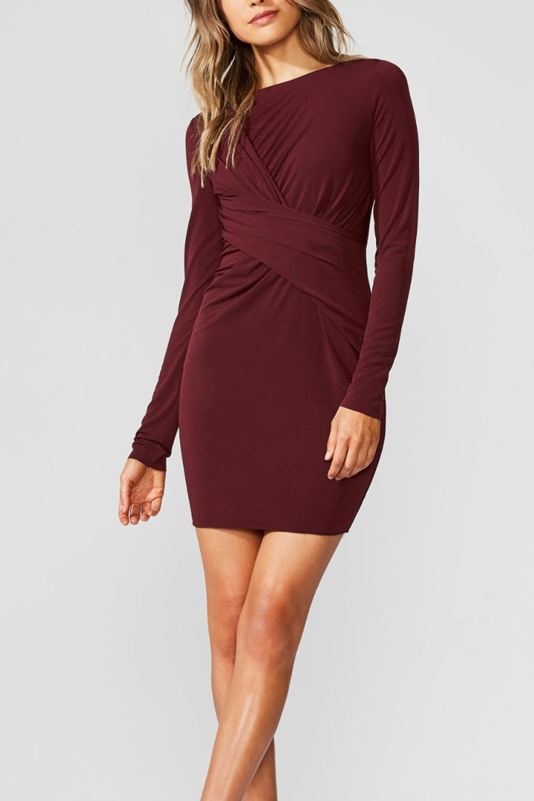 Bailey 44 Red Twisted Dress - Main Image