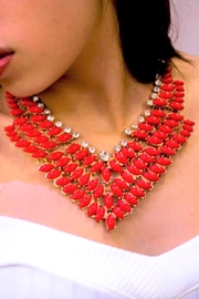 SD BOUTIQUE Red V Collar - Product Mini Image