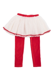 Rock Your Baby Red Velvet Leggings - Front cropped