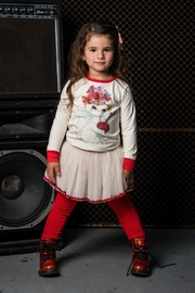 Rock Your Baby Red Velvet Leggings - Front full body