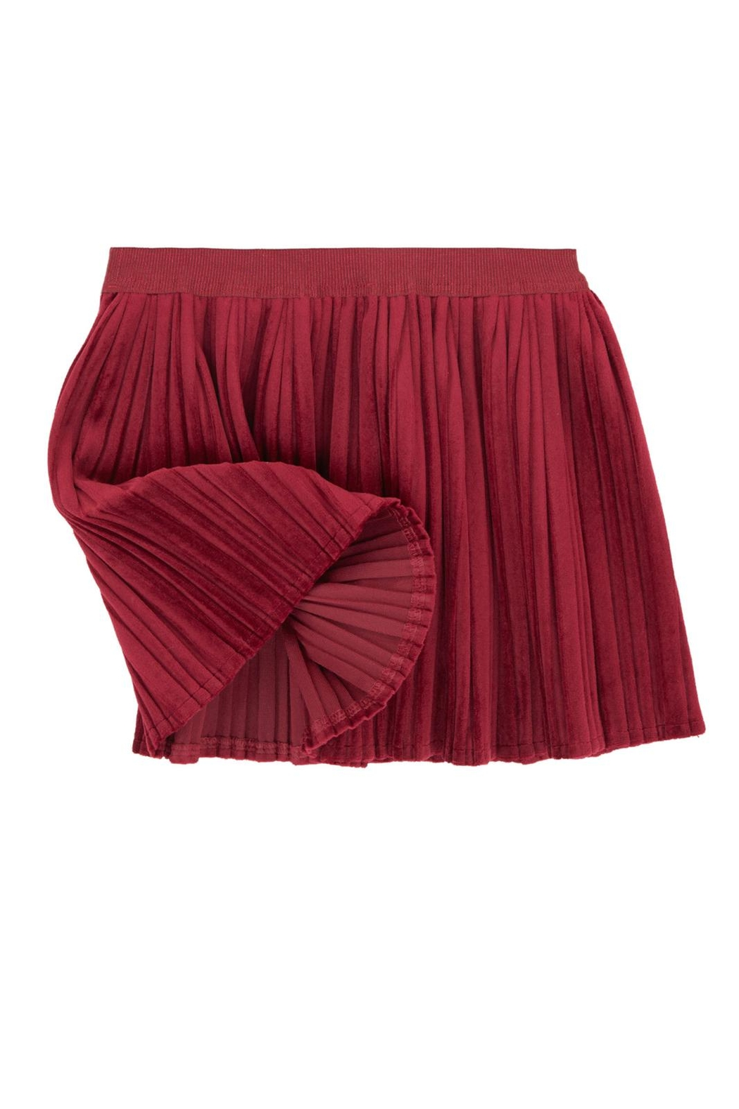 Mayoral Red Velvet Skirt - Front Full Image