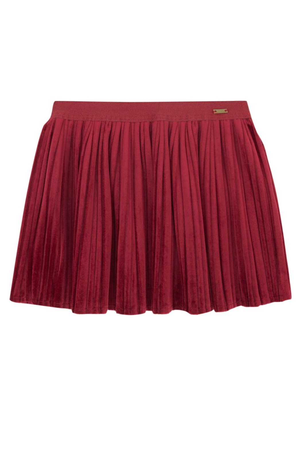 Mayoral Red Velvet Skirt - Main Image