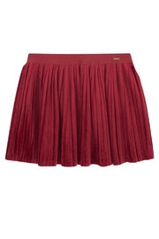 Mayoral Red Velvet Skirt - Front cropped