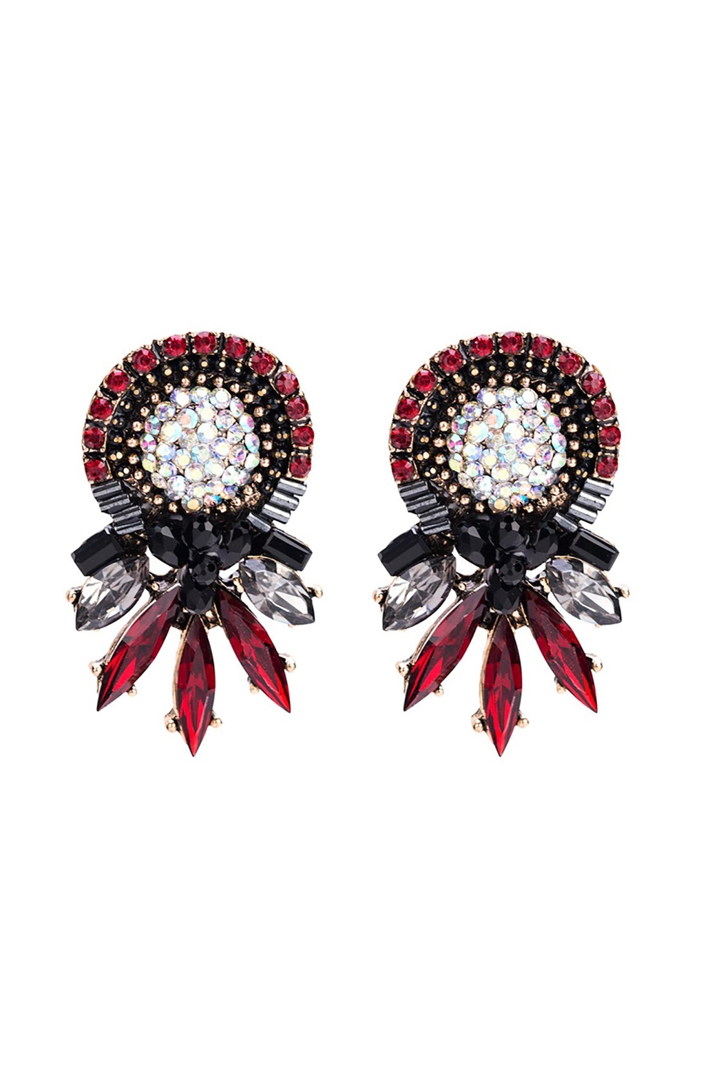 Fashion Pickle Red Vintage Earrings - Main Image