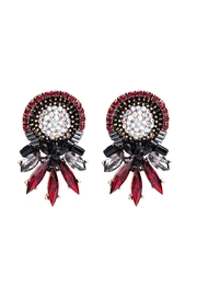 Fashion Pickle Red Vintage Earrings - Front cropped