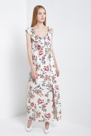 Soprano Red-White-&-Blue Floral Maxi - Front cropped