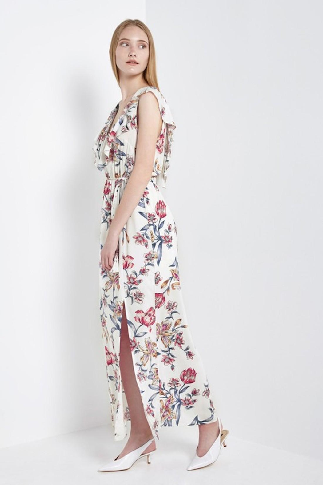 Soprano Red-White-&-Blue Floral Maxi - Front Full Image