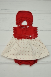 Granlei 1980 Red & White Dress - Front cropped