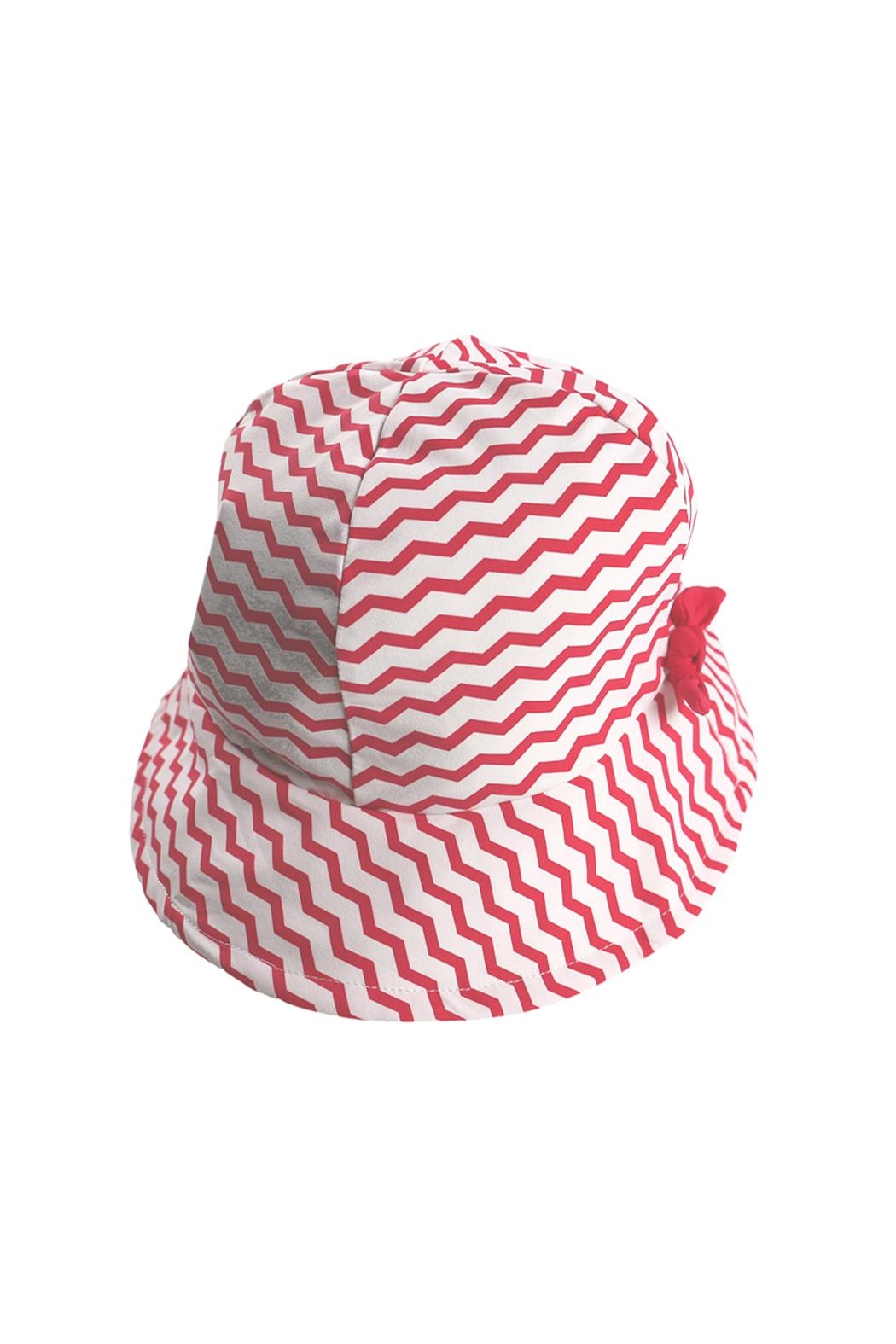 Archimede Red-White 'Julie' Hat - Front Full Image