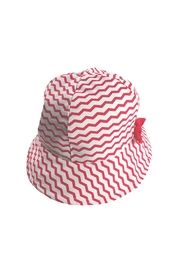 Archimede Red-White 'Julie' Hat - Front full body