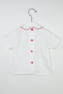 Dolce Petit Red & White Romper - Alternate List Image