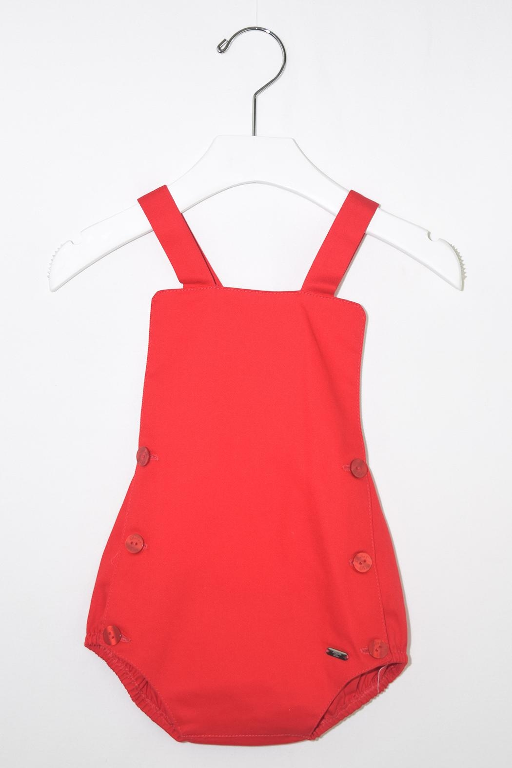 Dolce Petit Red & White Romper - Front Full Image