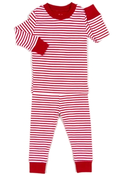 Kissy Kissy Red & White-Stripe Pajama-Set - Alternate List Image