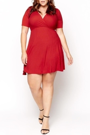 Mai Tai Red Wrap Dress - Front cropped