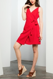 THML Clothing Red Wrap Dress - Product Mini Image