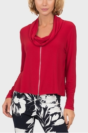 Joseph Ribkoff Red Zipfront Top - Front cropped
