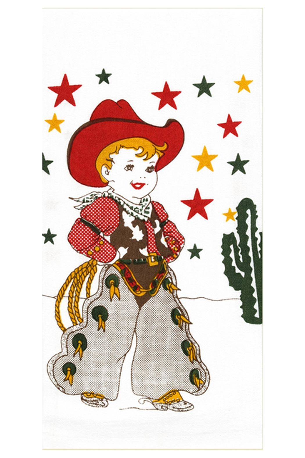 Red and White Kitchen Co. Cowboy Kitchen Towel - Main Image