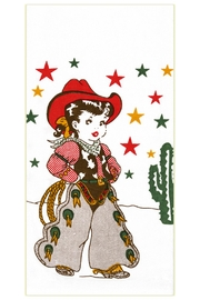 Red and White Kitchen Co. Cowgirl Kitchen Towel - Front cropped