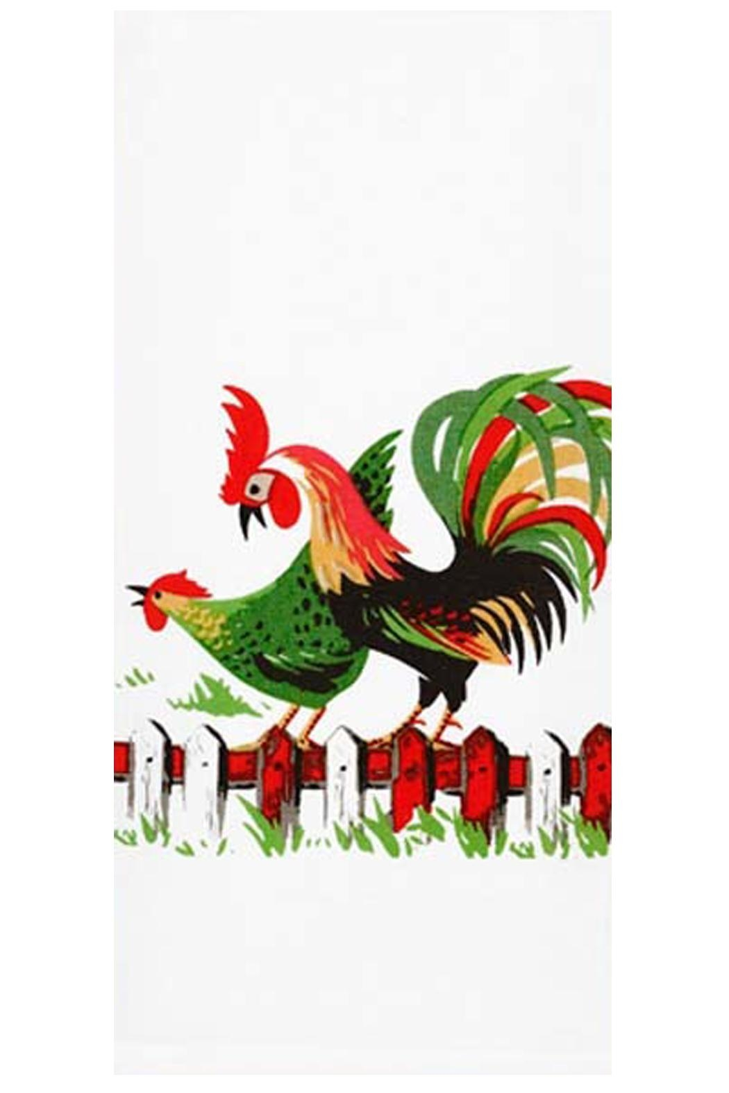 Red And White Kitchen Co. Henpecked Kitchen Towel   Front Cropped Image