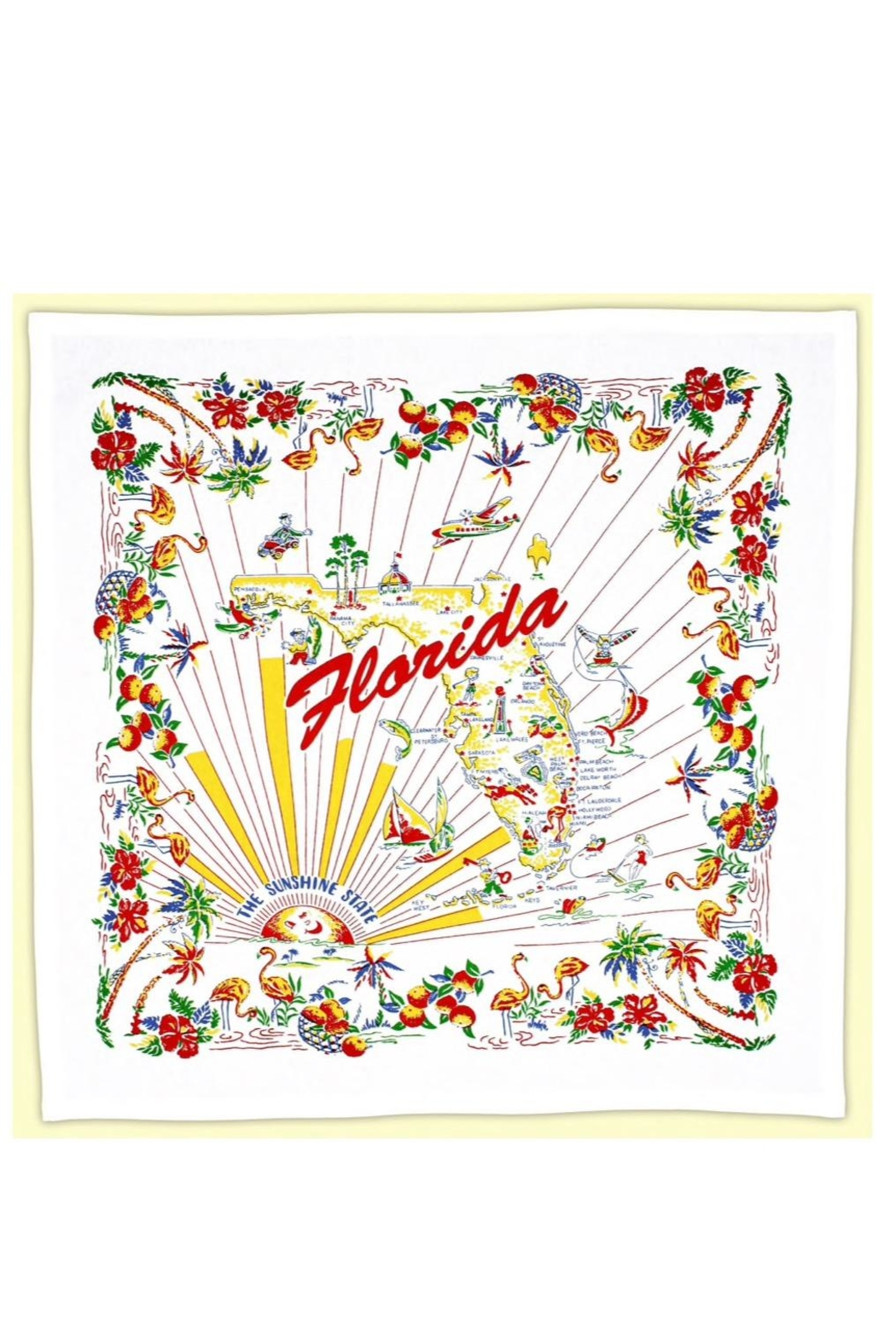 Red and White Kitchen Co. Retro Florida Towel - Main Image