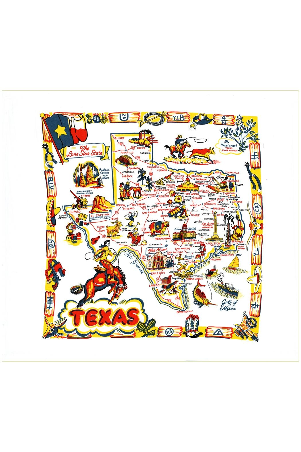 Red and White Kitchen Co. Texas Kitchen Towel - Main Image