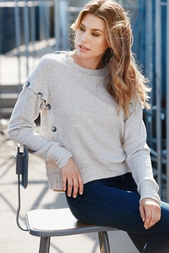 Shoptiques Product: Button Side Sweater
