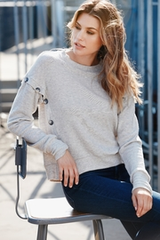 Red Haute Button Side Sweater - Product Mini Image