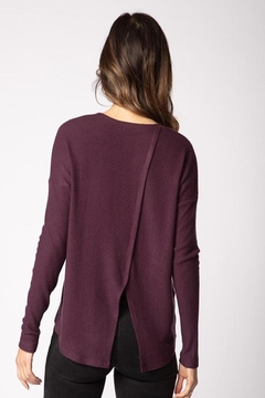 Red Haute Cross Back Sweater - Alternate List Image