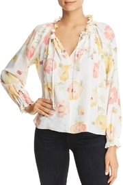 Red Haute Floral Blouse - Product Mini Image