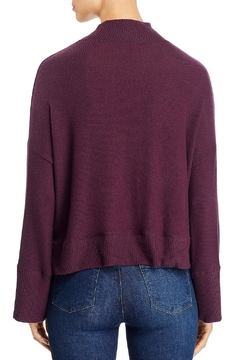 Red Haute Mock Neck Sweather - Alternate List Image