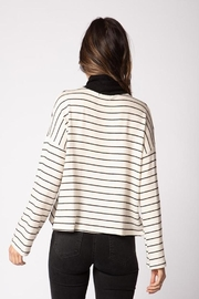 Red Haute Side Snap Sweater - Front full body