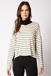 Red Haute Side Snap Sweater - Front cropped