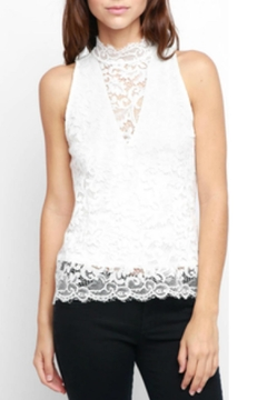 Red Haute Sleeveless Lace Tank - Product List Image