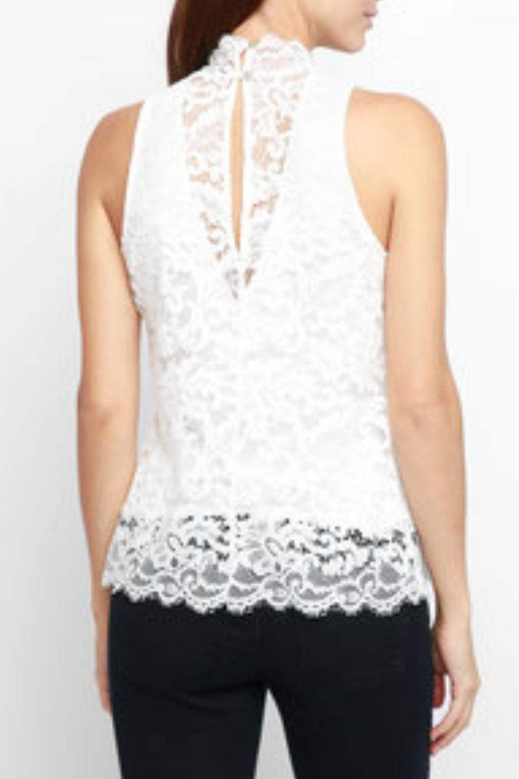 Red Haute Sleeveless Lace Tank - Front Full Image