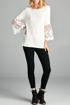 Red Lolly Bell Sleeve Top - Alternate List Image