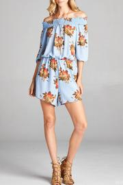 Red Lolly Blue Floral Romper - Product Mini Image