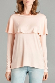 Red Lolly Cape Top - Front cropped