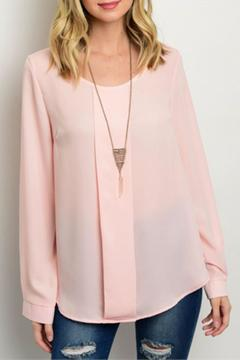 Shoptiques Product: Chiffon Pleated Top