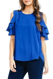 Red Lolly Krissi Blue Blouse - Product Mini Image