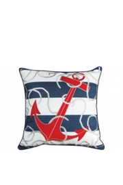 RIGHT SIDE DESIGN Red anchor Outdoor/Indoor Pillow - Product Mini Image