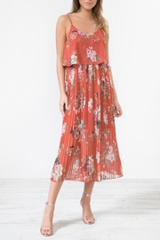 Urban Touch Redfloralprint Pleated Camimididress - Product Mini Image