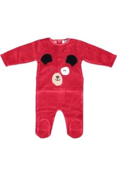 Pounds and Ounces Redvelour Bear Stretchy - Product List Image