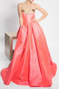 Reem Acra Coral, Gold, Strapless - Product List Image