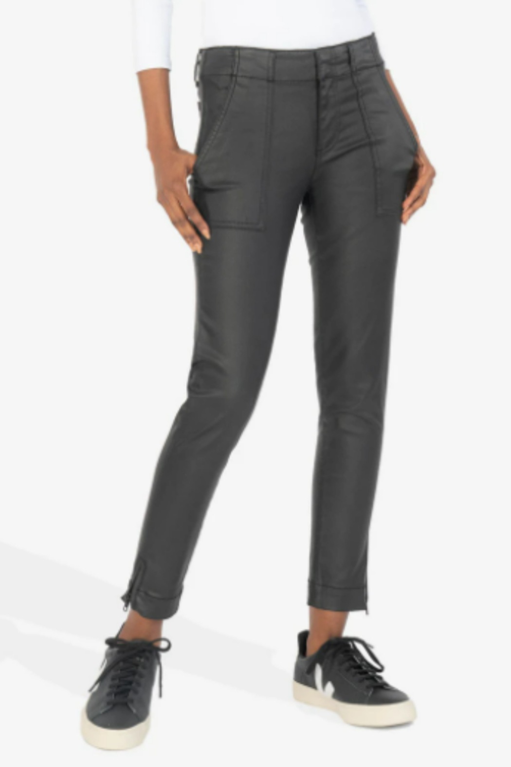 KUT Reese Ankle Straight - Front Cropped Image