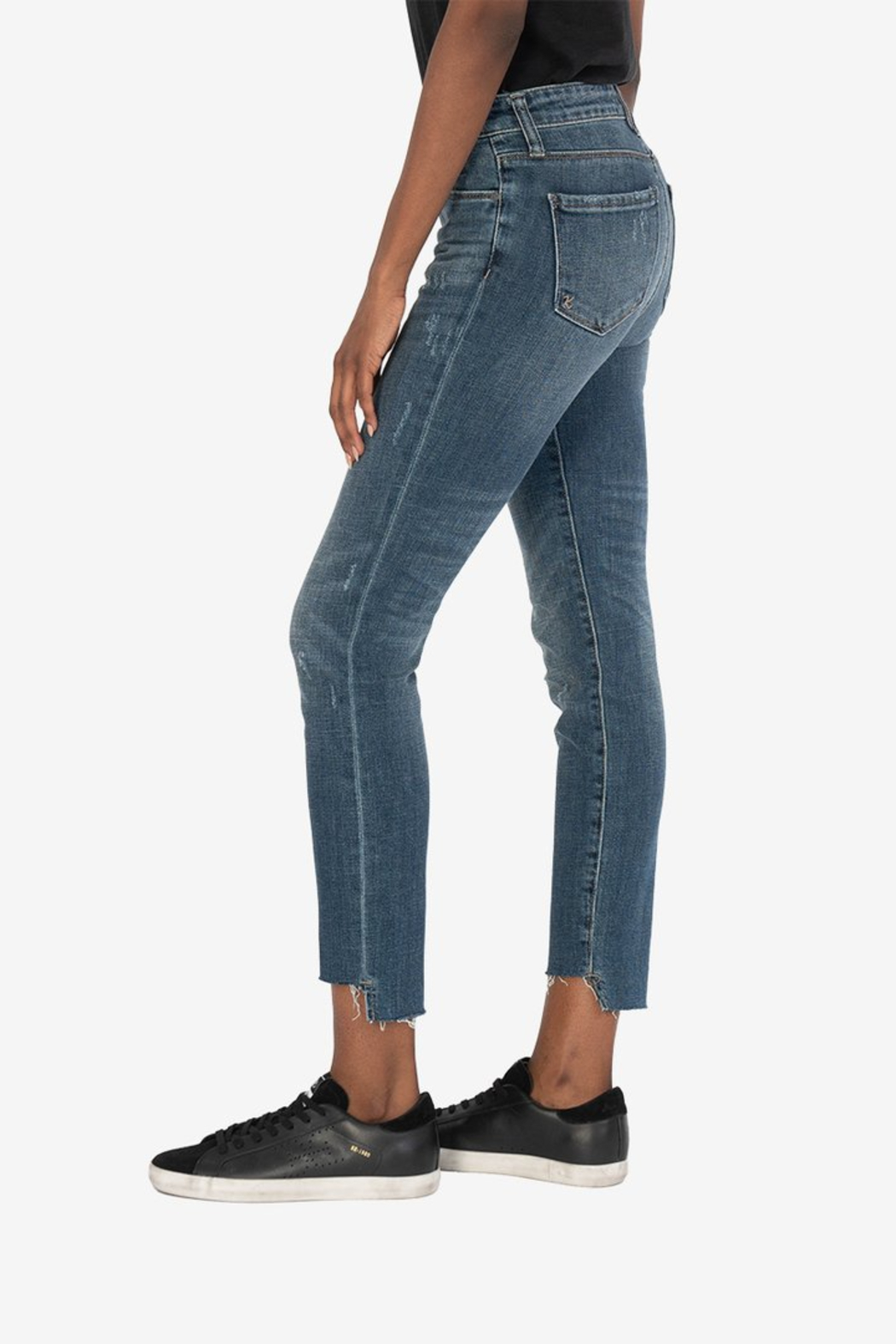 KUT Reese Ankle Straight Leg Jeans - Front Full Image